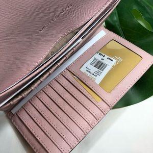 Michael Kors Bags - Michael Kors Jet Set trifold blossom pink wallet